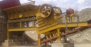 Trituradora de Piedra Portátil 30x42